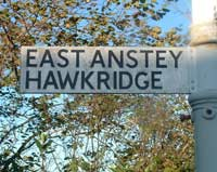 East Anstey Sign